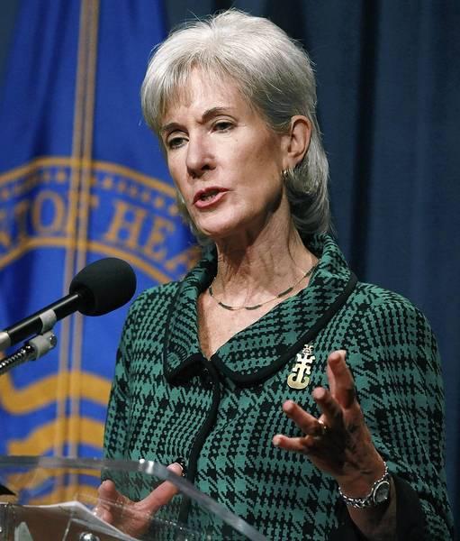 Health and Human Services Secretary Kathleen Sebelius