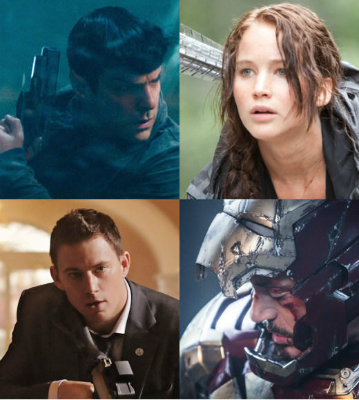 2013 movie preview: 'Hunger Games: Catching Fire,' 'Iron Man 3,' 'Star Trek Into Darkness' and more movies to watch for: 2012 was an unusually fine year at the movies. So 2013 needs to bring it big time if it hopes to come anywhere close.   Fortunately, the year looks big. Really big.  Were talking Katniss, Spock, Iron Man, Wolverine, Superman, Lone Ranger, Thor, Bilbo Baggins, One Direction, Hangover dudes, Ron Burgundy, giant robots versus giant monsters, and Channing Tatum protecting the President big.  But in Hollywood, bigger isnt always better. Lets hope for the best from the following 23 highlights and everything else due out in 2013.  -- Geoff Berkshire, Zap2it