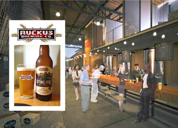 Rendering of proposed redevelopment of old Neuweiler Brewery by Ruckus Brewing CO.