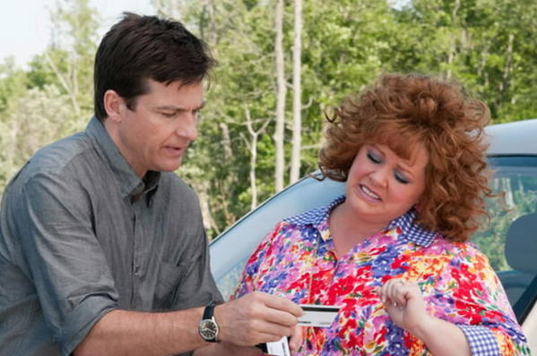 """Horrible Bosses"" featured, among others, Jason Bateman; here he reunites with the director of that raunchfest, Seth Gordon, this time sparring with the well-loved and ""Bridesmaids""-hot Melissa McCarthy. You can see it at the theater of your choice; all you have to provide is the admission price, a Social Security number and your ATM password."