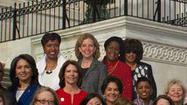 The Democratic women of the House, sworn in on Thursday, first gathered that morning for a photo. Except four didn't make it by the appointed hour.