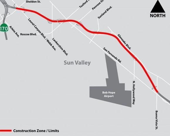 A map of the project area.