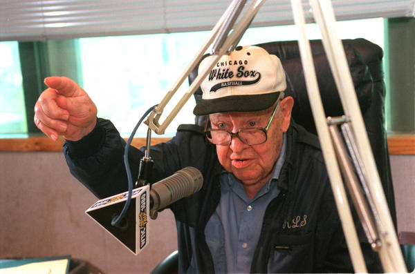 Hartford  5/1/99  Portrait of Bob Steele of Wethersfield, a longtime radio personality on WTIC 1080AM.