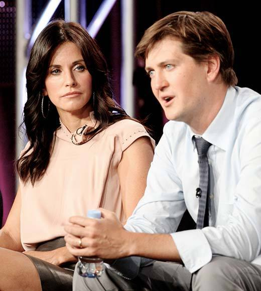Overheard at 2013 Winter TV Press Tour: Bill Laurence: Courteney did declare this year the year of her cleavage.  Courteney Cox: You will not see one scene that I dont show my boobs.   -- Cougar Towns creator and star talk about how the move to basic cable changed the show.