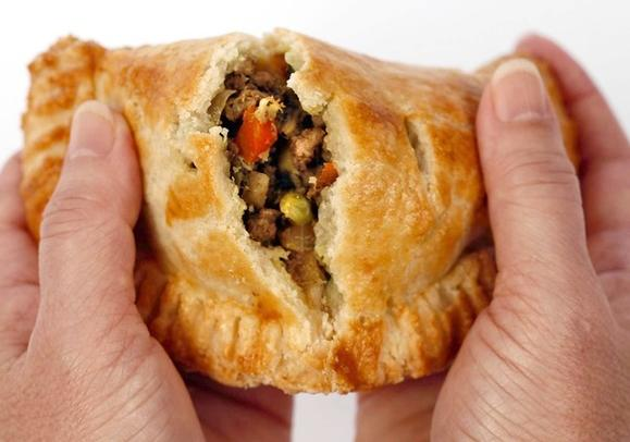 Curried lamb hand pie