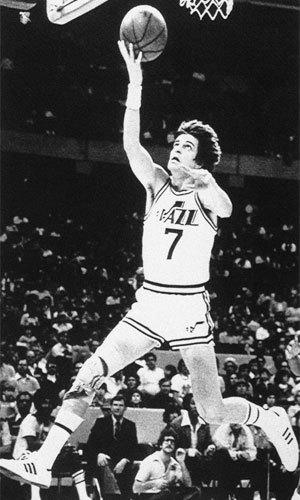 Pete Maravich, shown with the Utah Jazz in 1979, died during a pickup game in Pasadena 30 years ago.