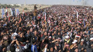 Tens of thousands of protesters rallied across Iraq on Friday, charging that Sunni Muslims had been disenfranchised under the Shiite-led government of Prime Minister Nouri Maliki and pressing for detainees to be freed.
