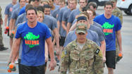 What does an 11-time Olympic medalist do to challenge himself in a workout? He visits Patrick Air Force Base to take part in pararescue indoctrination training.