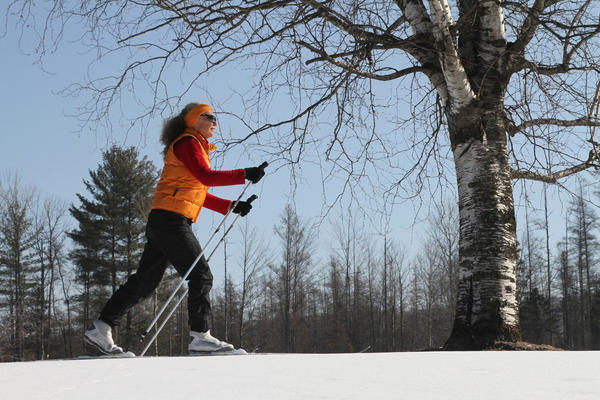 Cross-country skiing is available for free during Winter Trail Days at Boyne Mountain and Boyne Highlands resorts, though there is a charge for equipment rental.