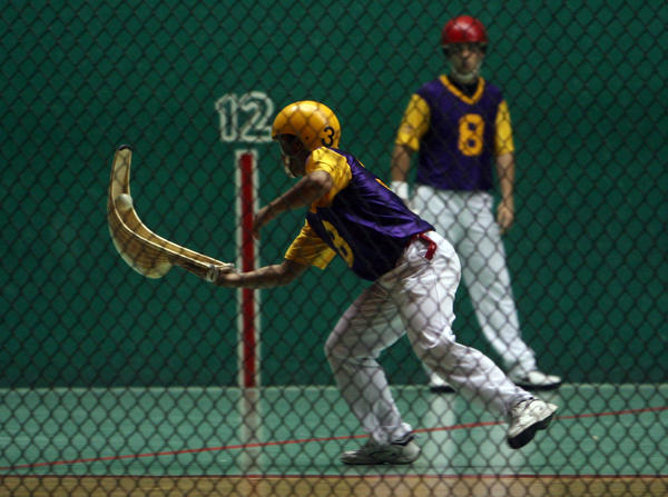 Jai-Alai players at the Dania fronton rely on pelota maker Jose Gonzalez, 59 to repair their balls and keep them lively.  He is Dania Jai-Alaiís only pelota maker, practicing a dying skill in a dying sport. Gonzales learned the art as a kid hanging around in a fronton in Acapulco, Mexico.