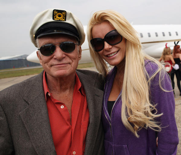 "Hugh Hefner and Crystal Harris made it to the vows this time around, getting married on New Year's Eve in a small ceremony at the Playboy Mansion.  Hef, 86, announced the news via Twitter on Monday, saying, ""Crystal & I married on New Year's Eve in the Mansion with Keith as my Best Man. Love that girl!"" Keith Hefner, 83, is Hugh's younger brother.   The Playboy founder followed up on Tuesday, tweeting, ""Happy New Year from Mr. and Mrs. Hugh Hefner!"" with an accompanying picture of him in his trademark pajamas with the bride, 26, still in her pink mermaid-style gown.   <br><br> <strong>Full story:</strong> <a href=""http://www.latimes.com/entertainment/gossip/la-et-mg-hugh-hefner-crystal-harris-married-20130102,0,4435404.story"">Hugh Hefner, Crystal Harris finally marry on New Year's Eve</a>"