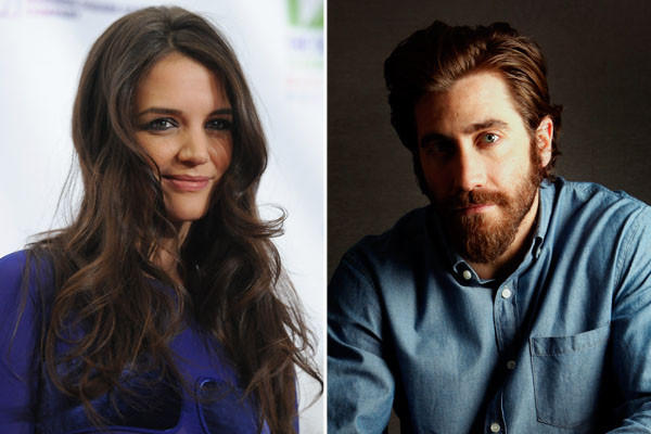 If Tom Cruise had a rumored new girlfriend in recent weeks, now it must be ex-wife Katie Holmes' turn -- and talk had it that she was turning up the heat with one Jake Gyllenhaal.  But talk is all it was, and one-international-tabloid talk at that. Grazia m