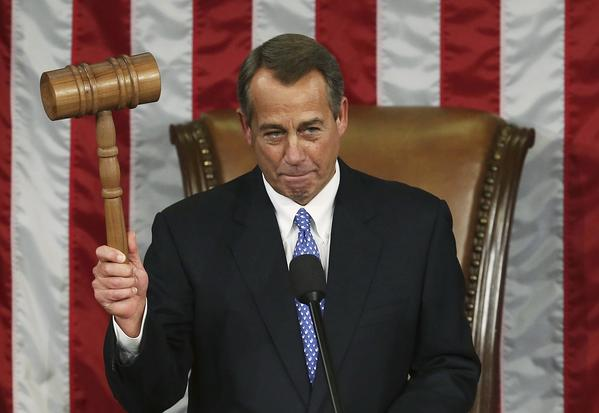 House Speaker John Boehner opens the first session of the 113th Congress on Jan. 3. Boehner was narrowly re-elected as speaker.