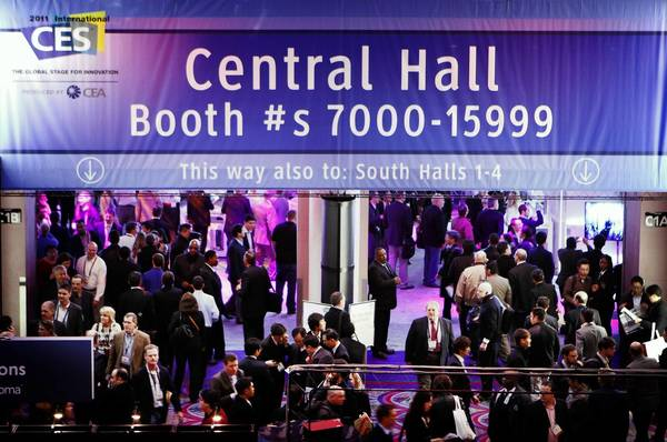 Crowds pack the Las Vegas Convention Center at the 2011 International Consumer Electronics Show. Over the years, the focus has changed from groundbreaking technology to networking.