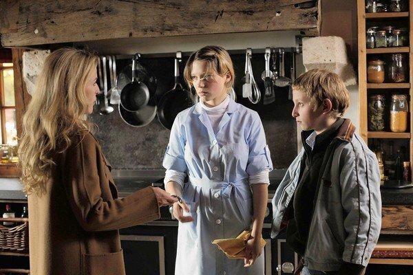 "Gillian Anderson, left, Lea Seydoux and Kacey Mottet Klein in ""Sister."""
