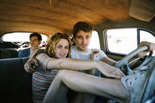 "Sam Riley, left, Kristen Stewart and Garrett Hedlund in ""On the Road,"" directed by Walter Salles."