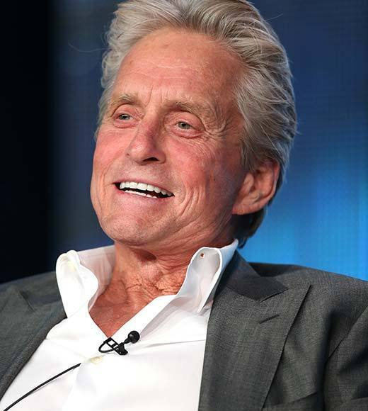 Overheard at 2013 Winter TV Press Tour: Where have you been all my life?   -- Behind the Candelabra star Michael Douglas on his wife Catherine Zeta-Jones reaction when she first saw him in character as Liberace