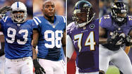 Colts OLBs Dwight Freeney and Robert Mathis vs Ravens OTs Michael Oher and Kelechi Osemele