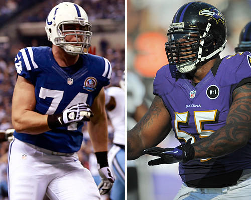 Suggs had three sacks and forced three fumbles last year when he went against Castonzo. Even though Suggs isn't at 100 percent, he should be in Castonzo's head for the game, and the Ravens need him to get pressure on Colts quarterback Andrew Luck. <b>Edge: Ravens</b>
