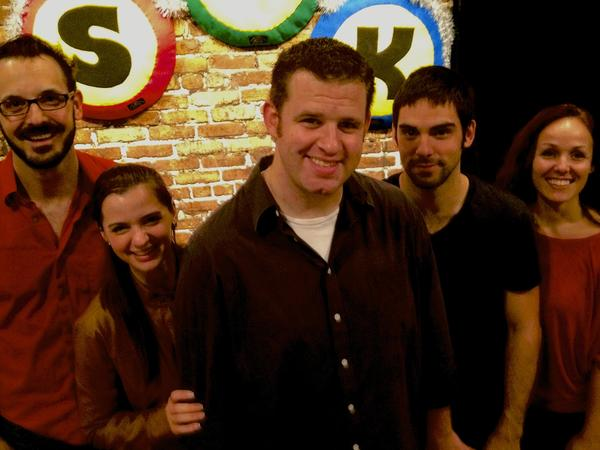 "Will Hagaman (from left), Ana Eligio, Mike Carr, Chris Dinger and Jennifer Bonner star in ""Better Days"" at SAK Comedy Lab."