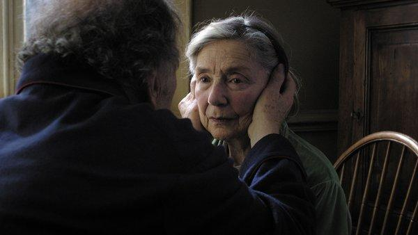 "Jean-Louis Trintignant, left, as Georges and Emmanuelle Riva as Anne in ""Amour."""
