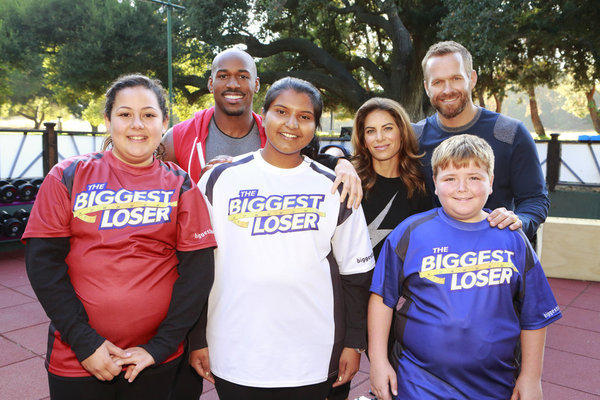 "Lindsay Bravo, 13, front left, Sunny Chandrasekar, 16, and Noah ""Blingo"" Grey, 13, are triggering controversy as they join trainers Dolvett Quince, Jillian Michaels and Bob Harper on Season 14 of ""The Biggest Loser."""