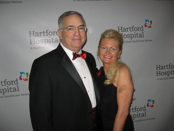 Ball chairman and Hartford Distributors CEO Ross Hollander with his wife Sunny. Ross Hollander's late brother Bubba was an organ  transplant recipient.