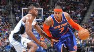 Carmelo Anthony scored 16 points in the fourth quarter and finished with 40, helping the New York Knicks defeat the host Orlando Magic, 114-106, Saturday night.