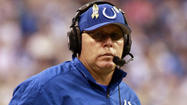 The Indianapolis Colts' offense took another hit this morning when offensive coordinator Bruce Arians was hospitalized with severe flu-like symptoms.