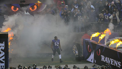 Ray Lewis says goodbye in usual dancing style