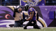 Ray Lewis ran on the field one more time and the man who has rewritten the Ravens' defensive record book had another career first left in him. As quarterback Joe Flacco prepared to kneel down, Lewis jogged about 10 yards behind him and took his place in victory formation.