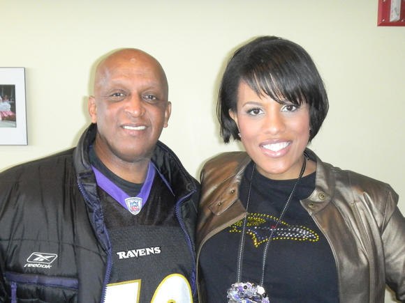 Jack Young and Stephanie Rawlings-Blake at Ravens-Colts AFC Wild Card game