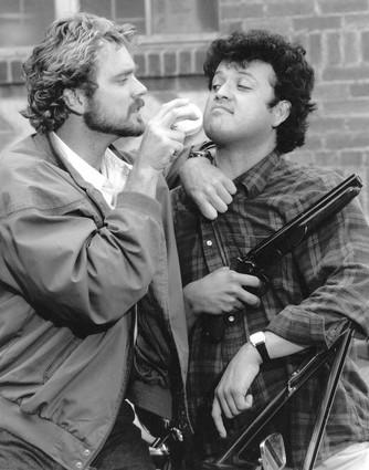The plot: Rival bounty hunters (John Schneider, left, and Paul Rodriguez) go to extraordinary lengths to beat one another to the same criminal in a slapstick comedy. / How many watched? 30.7 million viewers / Touchdown or fumble: Fumble. A lot of people watched the premiere, and apparently they didn't like what they saw. The show quickly sank in the ratings and was gone after a handful of episodes.