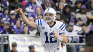 The Indianapolis Colts' nine points in Sunday's 15-point loss to the Ravens in Sunday's AFC wild-card playoff round, matched a season low when the team fell to the New York Jets, 35-9, on Oct. 14.