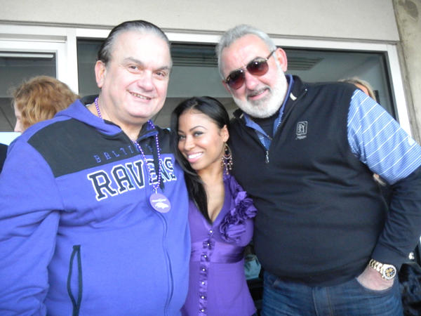 Steve Geppi, Baltimore Magazine publisher, Ayana Lugo, White Star Sales sales director, and Steve de Castro, Big Steaks Management CEO, could be found in the Big Steaks suite.