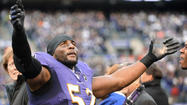 Minutes after a grinning Ray Lewis swaggered out of the tunnel and did his trademark dance much to the delight of fans and teammates, the Ravens' star middle linebacker was suddenly all business again.
