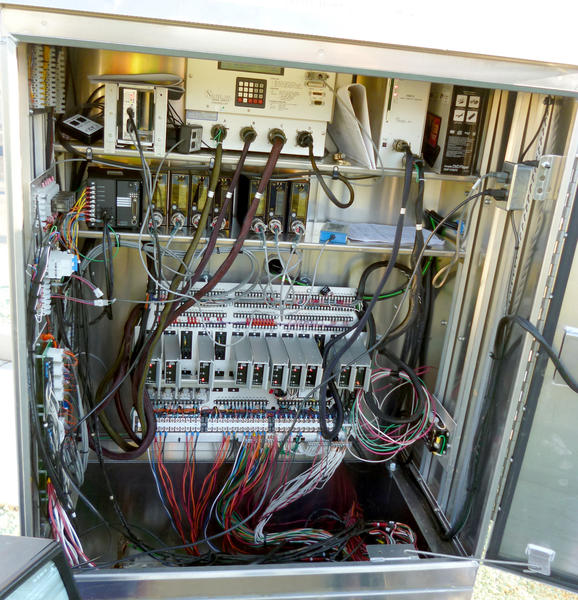 The electronic components of this traffic-control cabinet at Industrial Boulevard and Boulder Drive in Upper Macungie Township controls a wide array of signal functions.