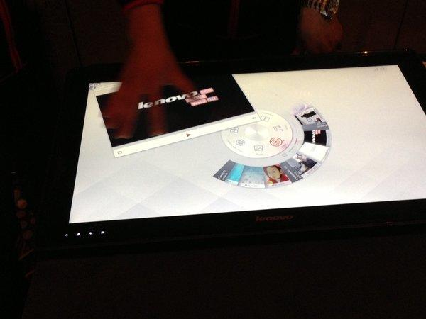 Lenovo unveiled its 27-inch table PC at CES 2013.