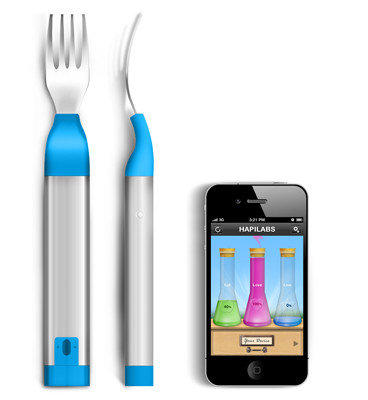 """Smart"" forks from Hapilabs help monitor users' eating habits."