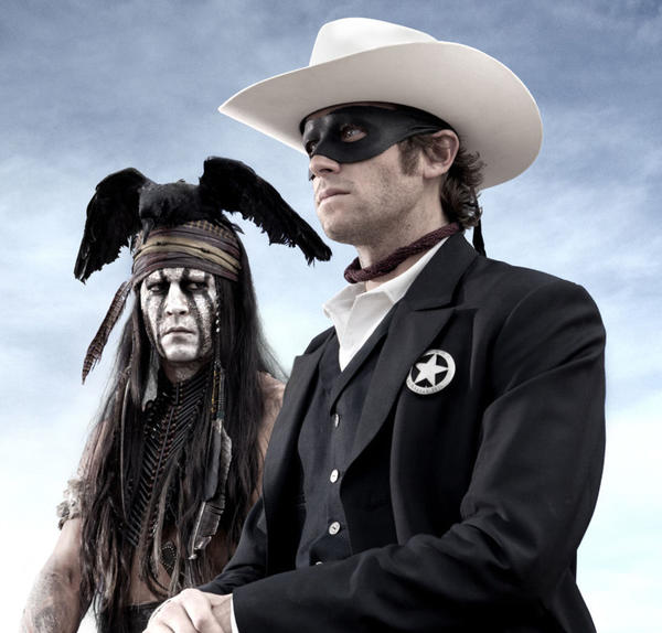 """Native American spirit warrior Tonto recounts the untold tales that transformed John Reid, a man of the law, into a legend of justice."" Stars Johnny Depp, Armie Hammer and Tom Wilkinson"