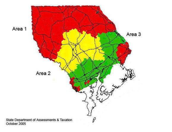 Harford County assessment areas