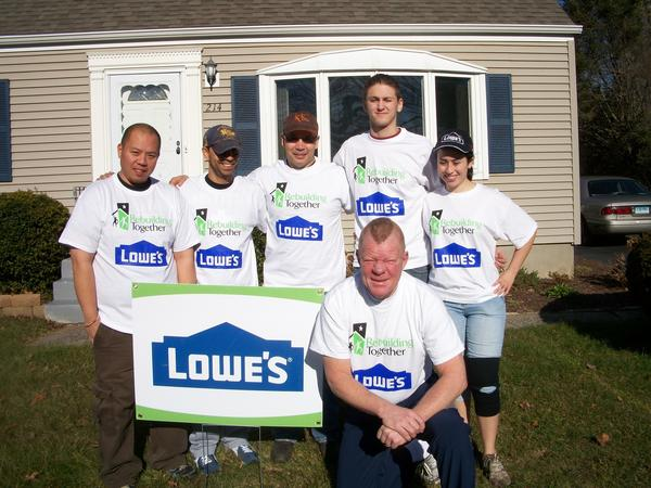 "Rebuilding Together New Britain worked with a group of Lowe's Heroes employees on Thursday, Dec. 6, who volunteered their time to make weatherization, energy efficiency, and other critical repairs and improvements to the home of Louis and Theresa Perzan. <a href=""http://www.courant.com/community/hc-community-articleresults,0,5942637,results.formprofile?Query=68859HC""><b>Read The Story</b></a>"