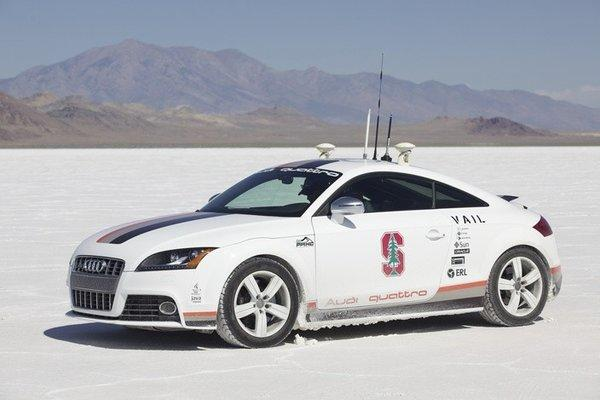 Audi became the first automaker granted a permit to test a self-driving car in Nevada.