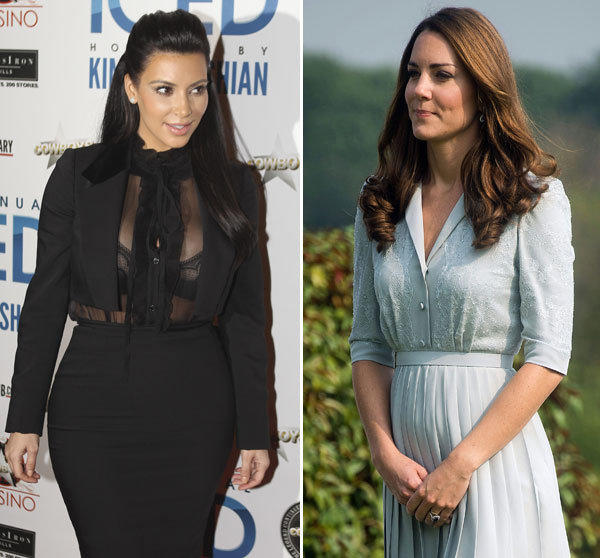 Kim Kardashian and Kate Middleton