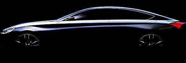 Hyundai released this teaser sketch of the HCD-14 concept it will show at the 2013 Detroit Auto Show.