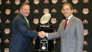 Brian Kelly and Nick Saban