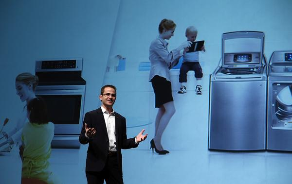 James Fishler, LG Electronics USA senior vice president of marketing, discusses new products.
