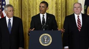 Obama chooses Hagel for defense secretary, Brennan to head CIA