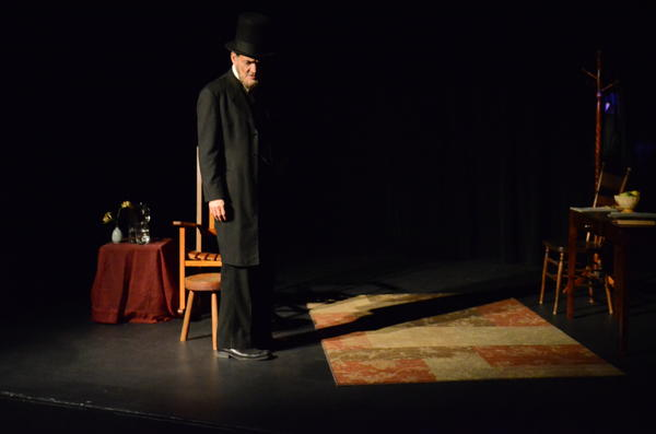 "Ed Trotta as ""Abraham Lincoln in Two Miles a Penny"" at the Ruby Theater."