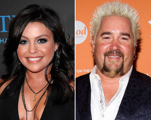 "Rachael Ray and Guy Fieri host ""Rachael vs. Guy Celebrity Cook-Off"" on the Food Network."